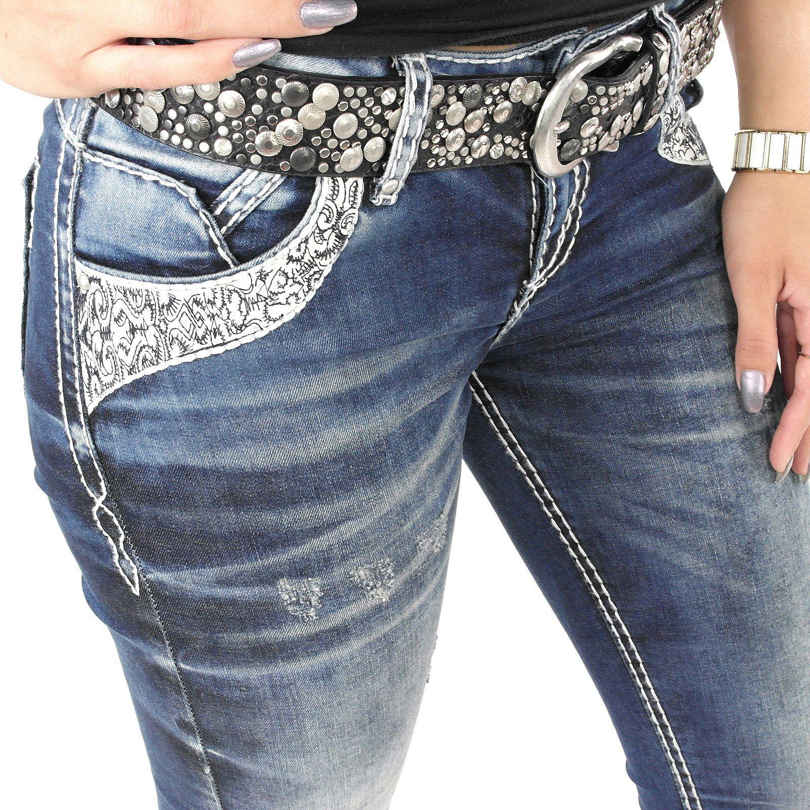 neuer Stil & Luxus im Angebot spätester Verkauf Ausgefallene Damenjeans der Fashion Marke Cipo & Baxx zu ...