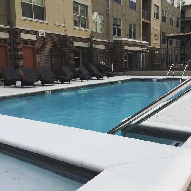 Sparkling Resident Pool At The Frasier In Alexandria, VA | Luxury Apartments  Near DC