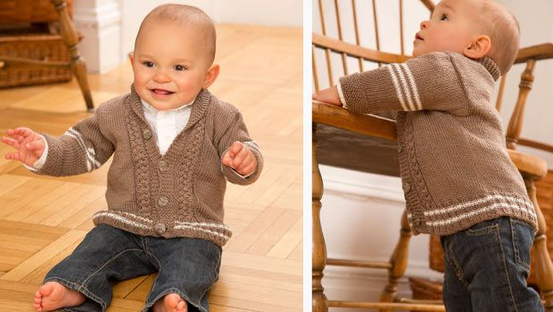 Knitting Jumper Pattern : Free pattern preppy baby cardigan knit patterns