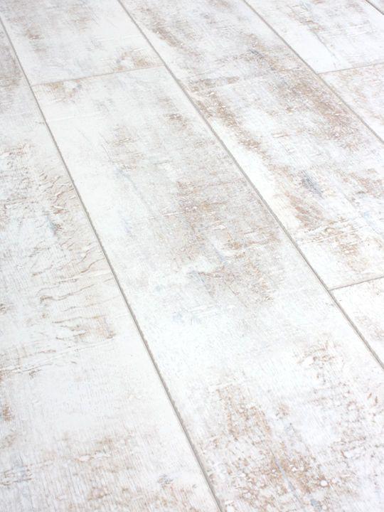 Packs Of Distressed White Laminate Flooring 12mm Ac4 More