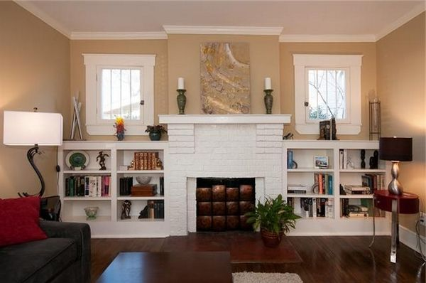 Built In Bookcases Around A Fireplace fireplace Pinterest