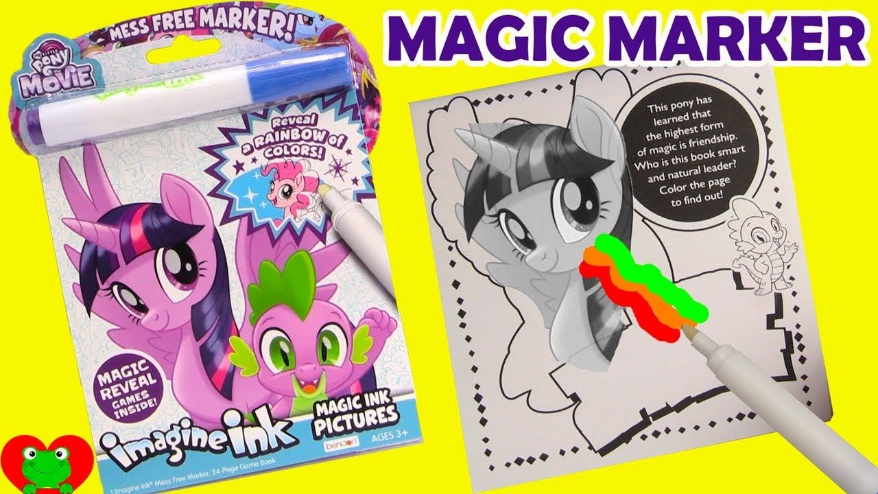 My Little Pony The Movie Imagine Ink Magic Marker Coloring Book My