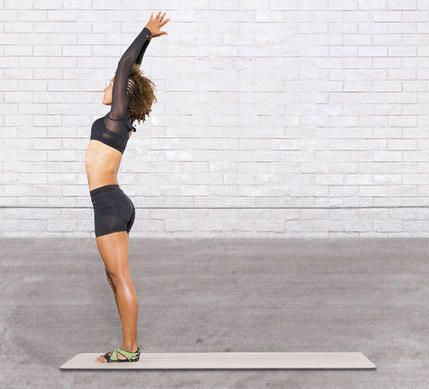 Sun salutations will help you to relax and refocus. #yoga