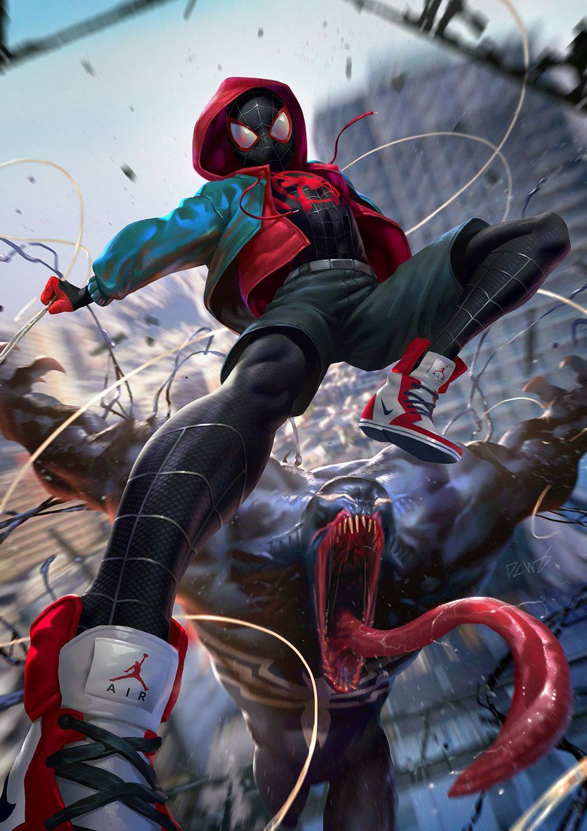 the art of video games on | 2d art | 2d art, art, spiderman