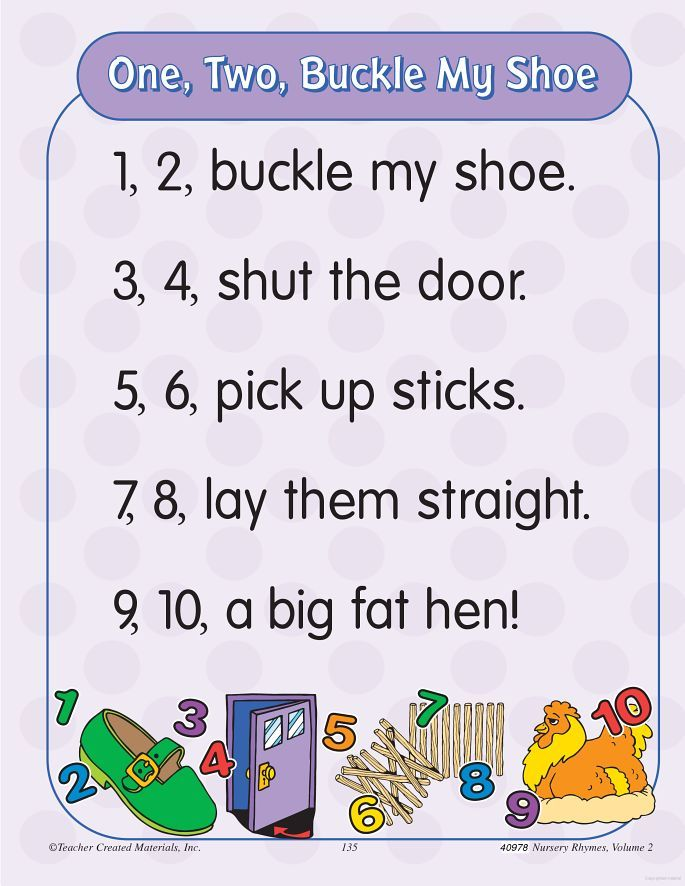 One Two Buckle My Shoe Rhyme Google Search Nursery Songs