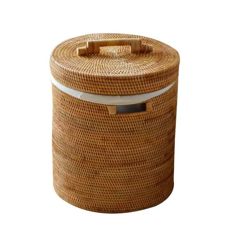 Large Hand Woven Clothes Basket With Cover Large Woven Basket Vietnam Round Basket Large Woven Basket Ikea Storage Wicker Baskets Storage
