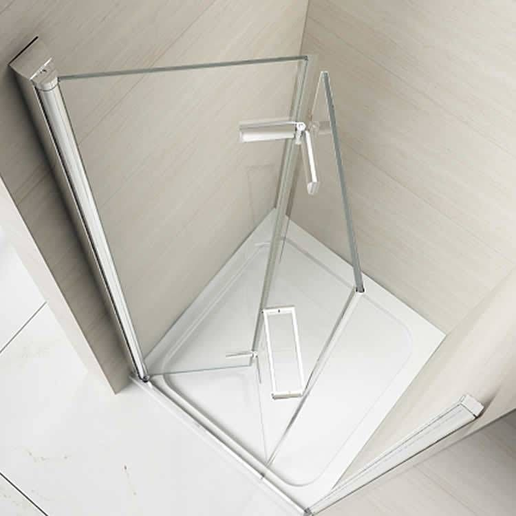 Merlyn 8 Series Frameless Hinged Bifold Shower Door Bifold Shower Door Shower Doors Small Shower Stalls
