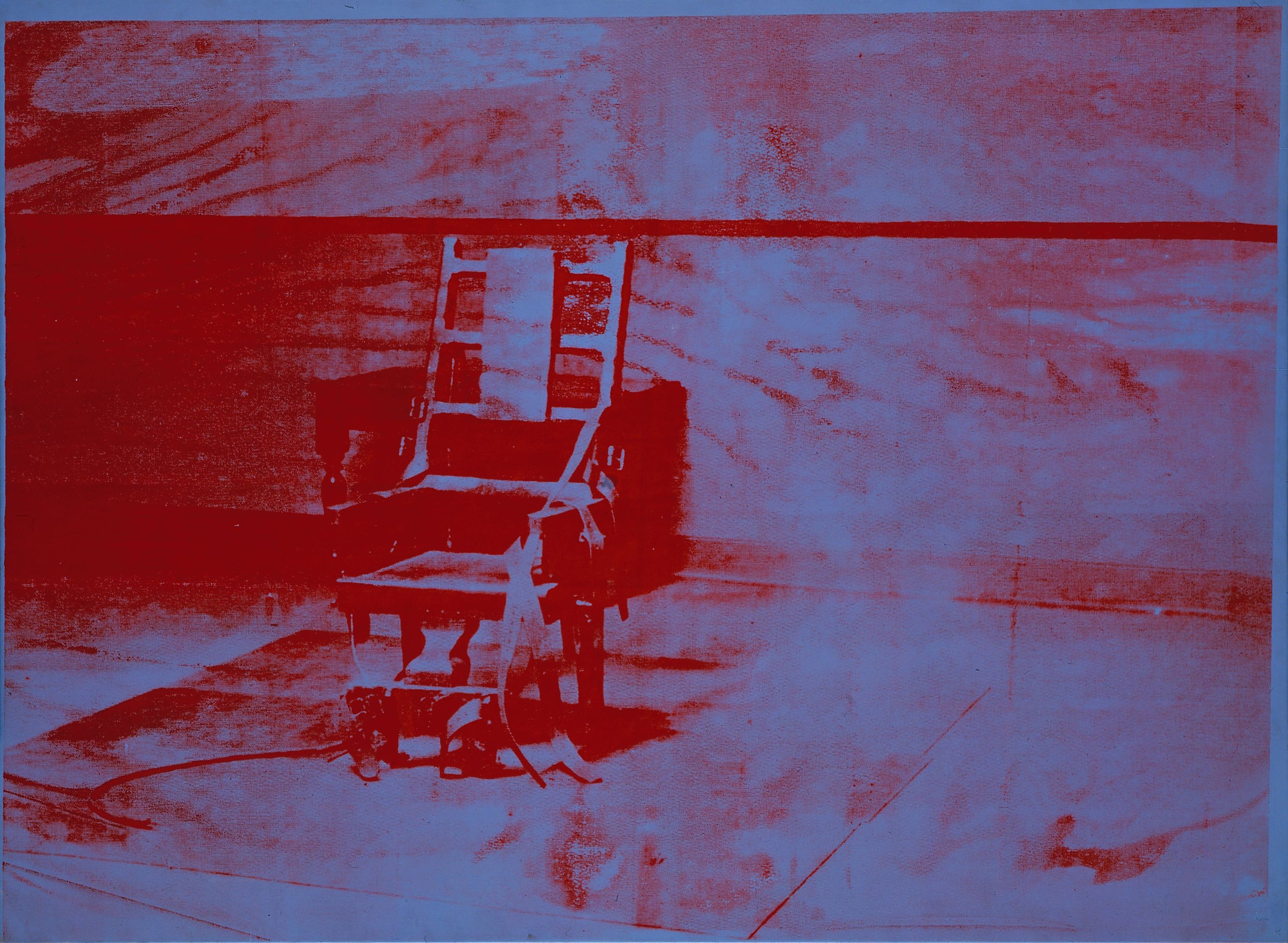 Electric chair andy warhol - Andy Warhol Big Electric Chair 1967 Acrylic And Silkscreen Ink On Linen