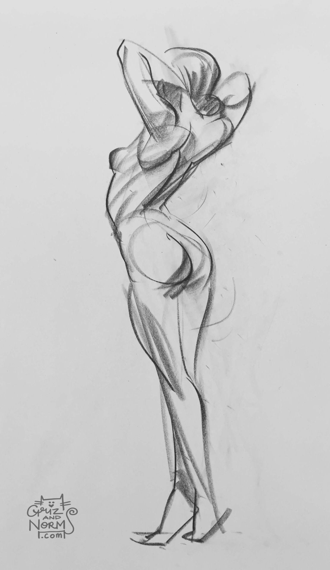Figure drawing 02 19 12 ½ went back to the conte stick on these ones n