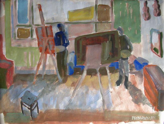 #art , #gouache , #studio , #people