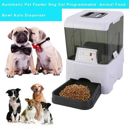 Practical Automatic Pet Feeder Dog Cat Programmable Animal Food