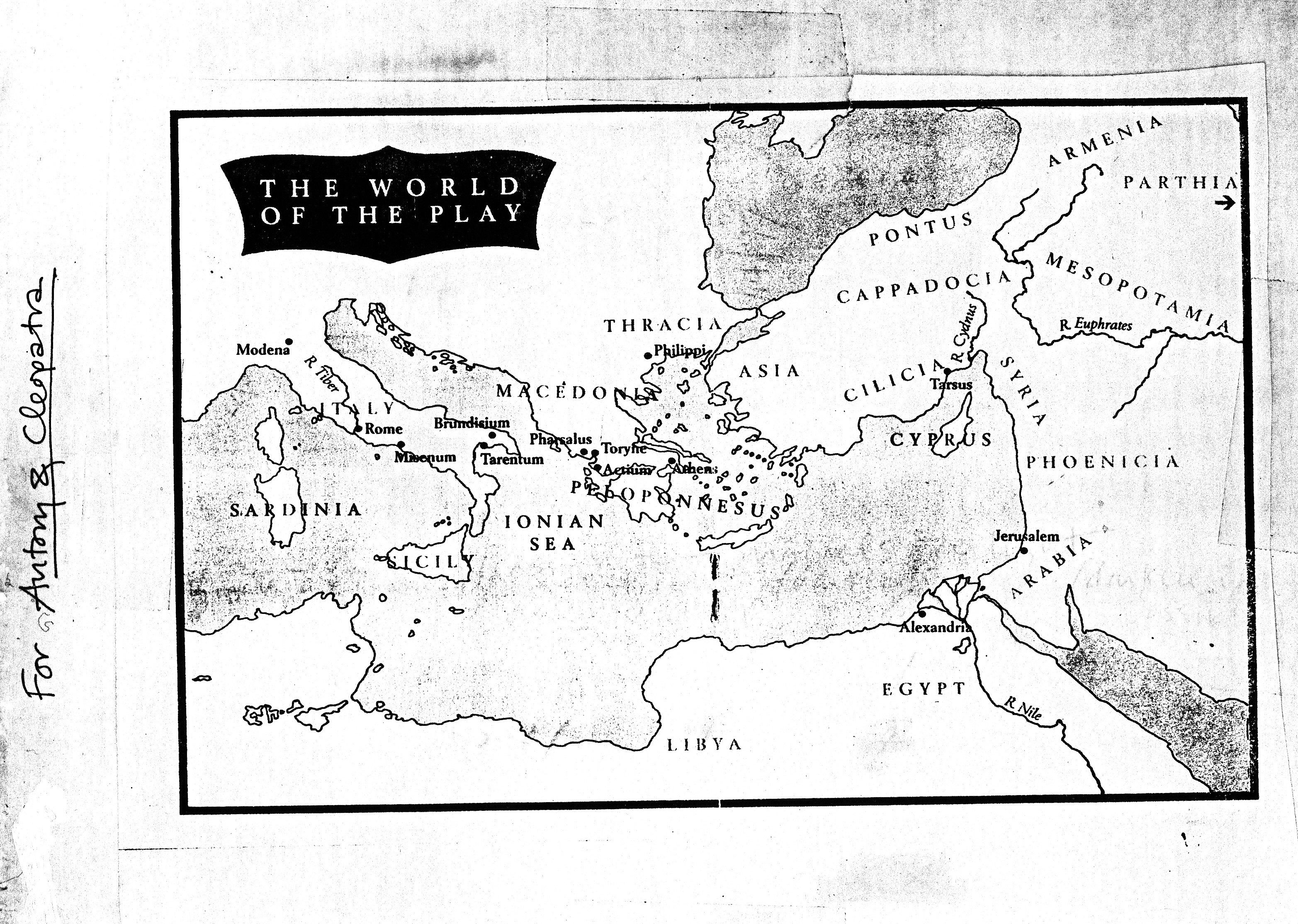The Map Shows The Geographical World Of Antony And