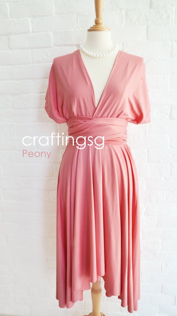 Mother of the Bride/Groom Infinity Dress Peony Knee Length by ...