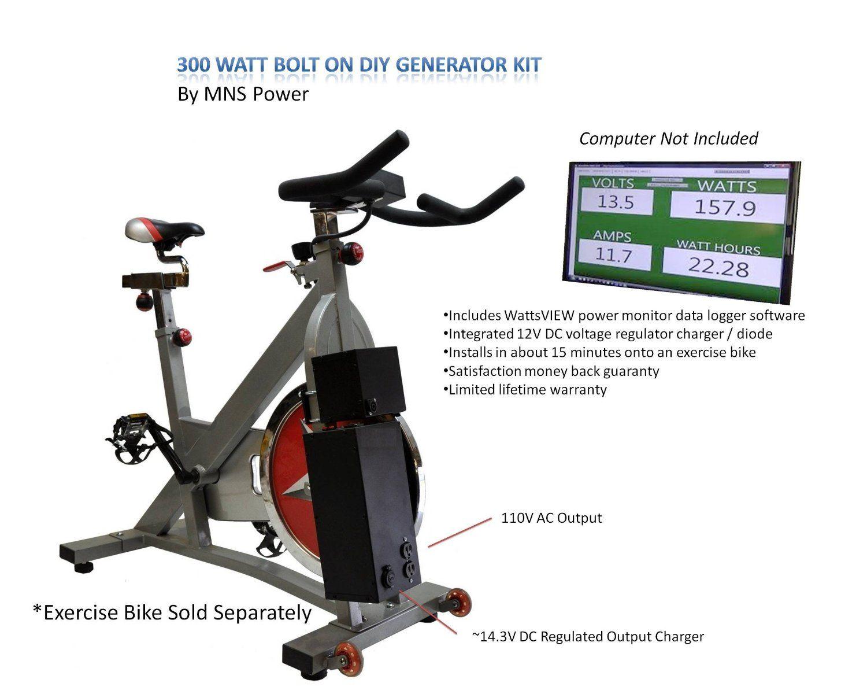 Amazon Com Pedal Power Exercise Bike Generator Ac Dc Emergency