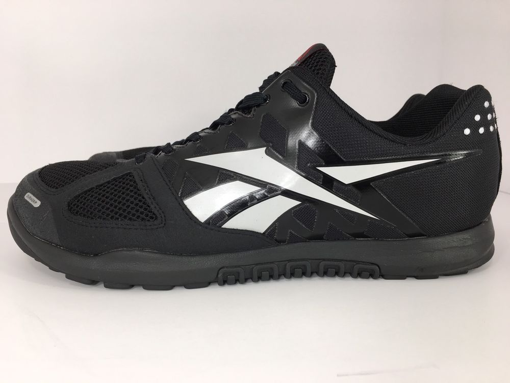 1665bc6b3d3e67 Men s REEBOK Crossfit shoes Nano 2.0 J94326 Black Grey Training Sneakers  Size 12