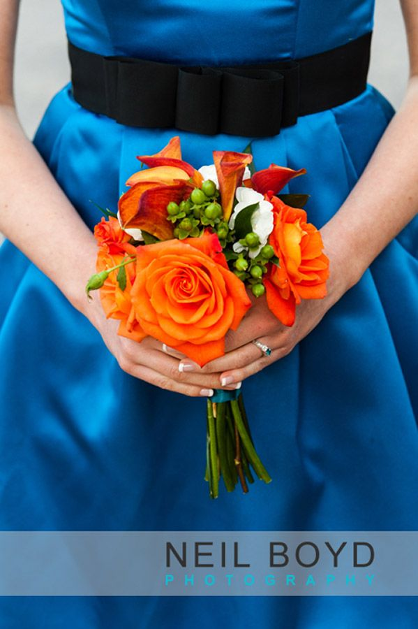 Orange Wedding Flowers Bouquet Raleigh Weddings English