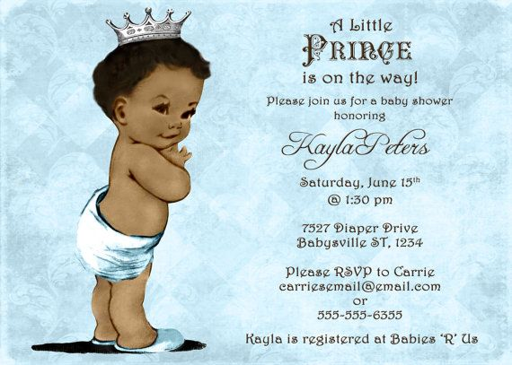 African American Baby Shower Invitation For Boy By Jjmcbean 23 00