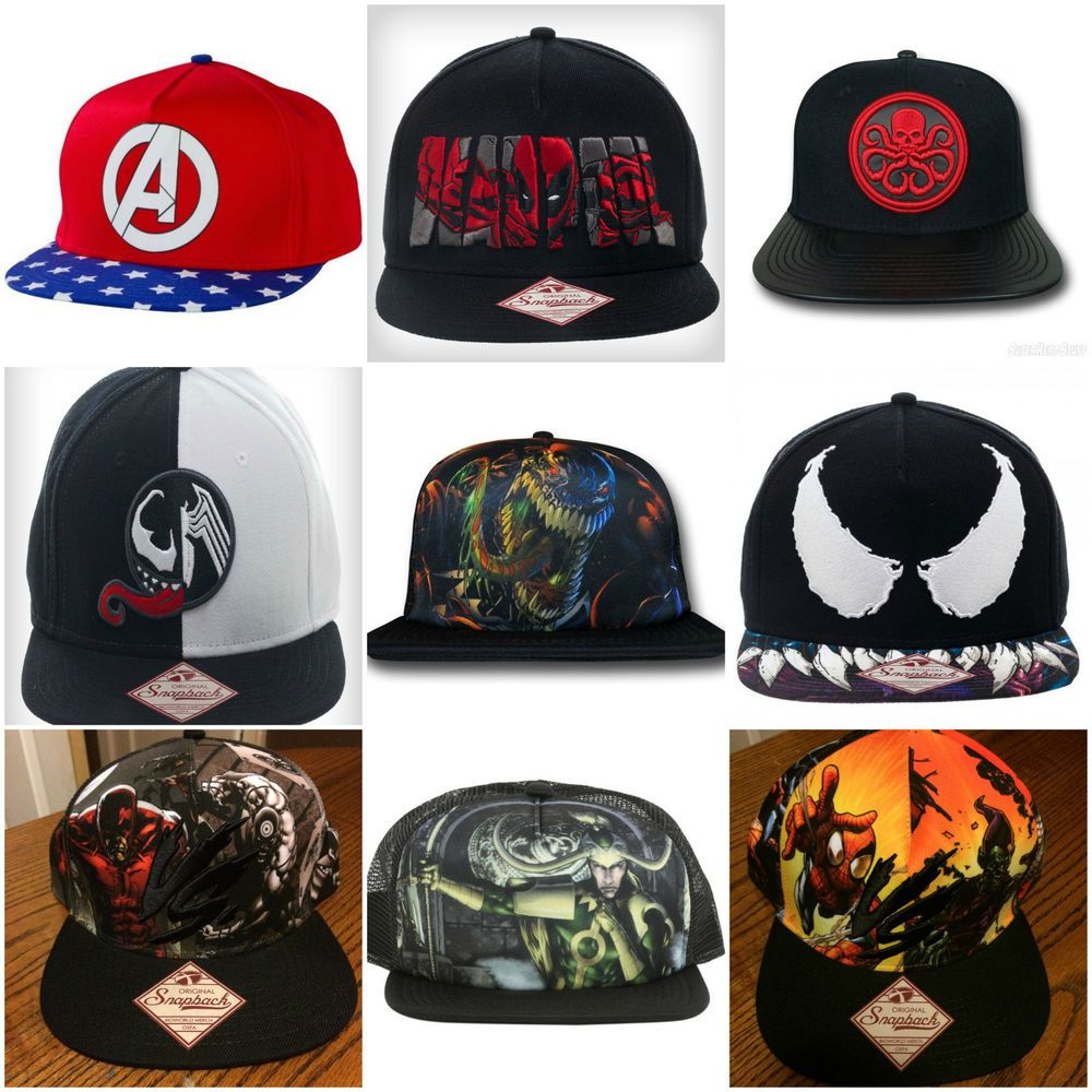 58cfd4a9232 Marvel Authentic SNAPBACK or SUBLIMATED HATS - Avengers