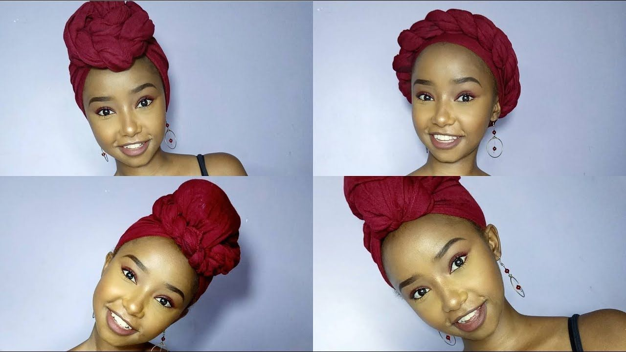 how to wear a headscarf with short hair