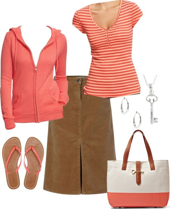 """Crazy for Coral"" by shepherdsfreckles on Polyvore"