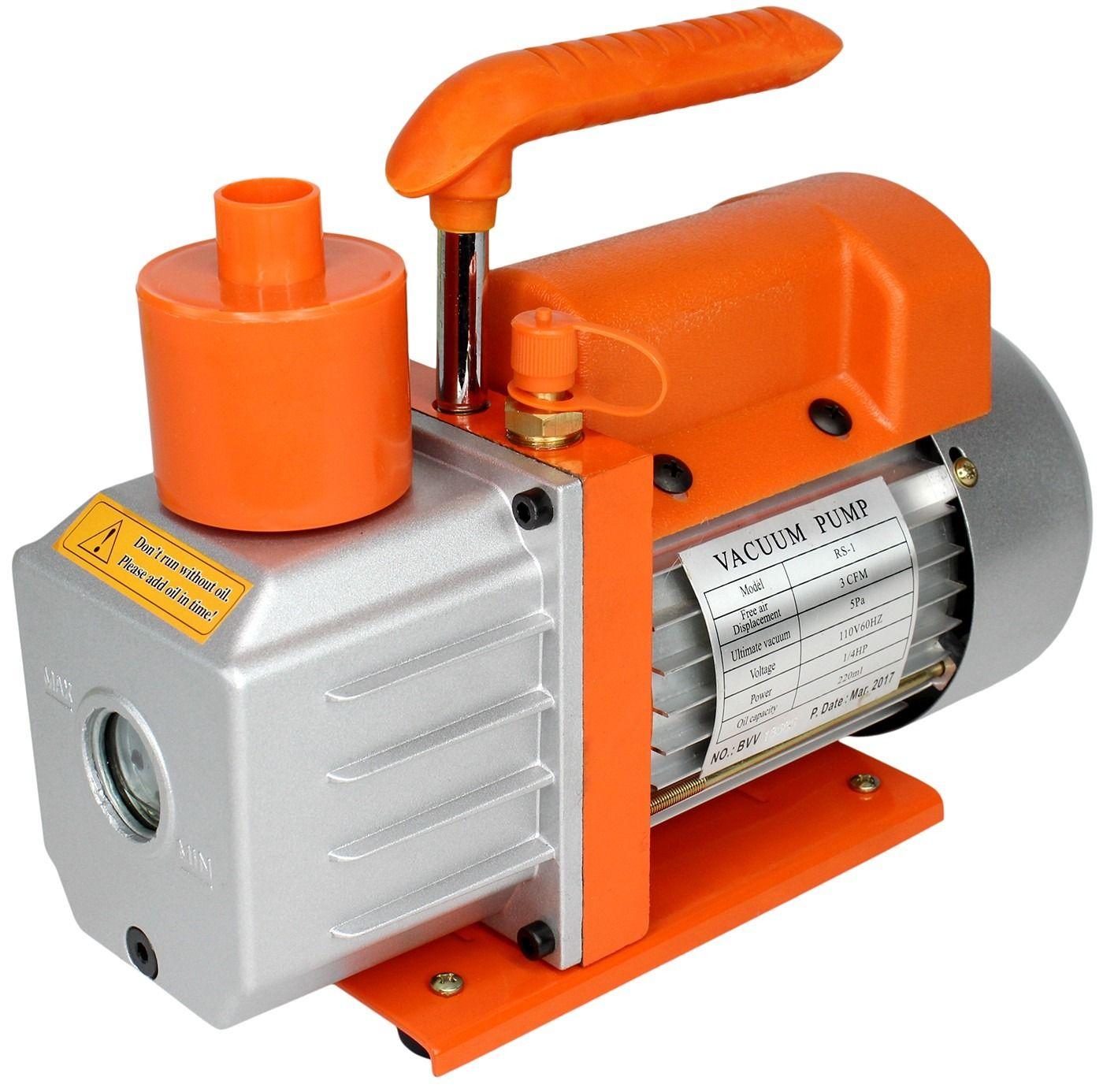 Key Features Internal Check Valve Oil Mist Filter Cap Larger Oil Reservoir For Longer Oil Life Lightweight Rubber Feet For Vacuum Pump Vacuums Noise Dampening