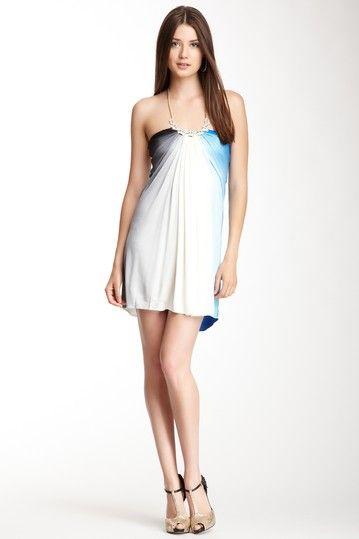 Draped Multicolor Silk Maxi Dress on HauteLook