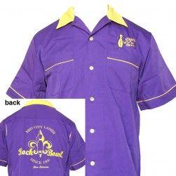 6faf0e2cb7d Purple & Gold Bowling Shirt at Rock & Bowl - $   Bowling ...