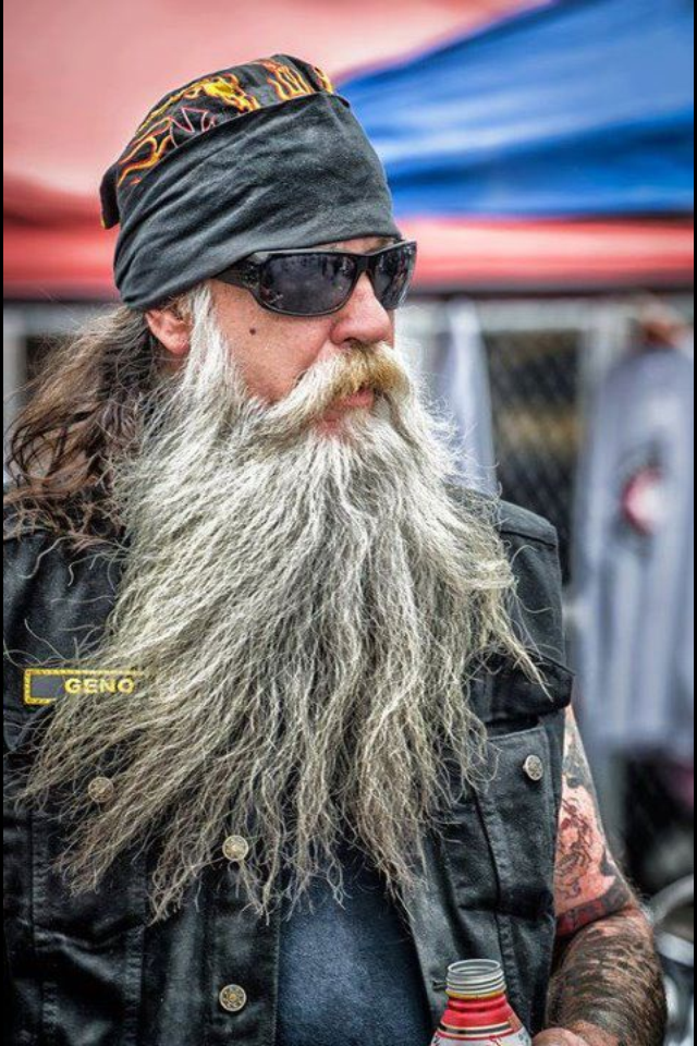 Astonishing Huge White Gray Beard Nice Coloration Natural Full Length Mustache Hairstyles For Women Draintrainus