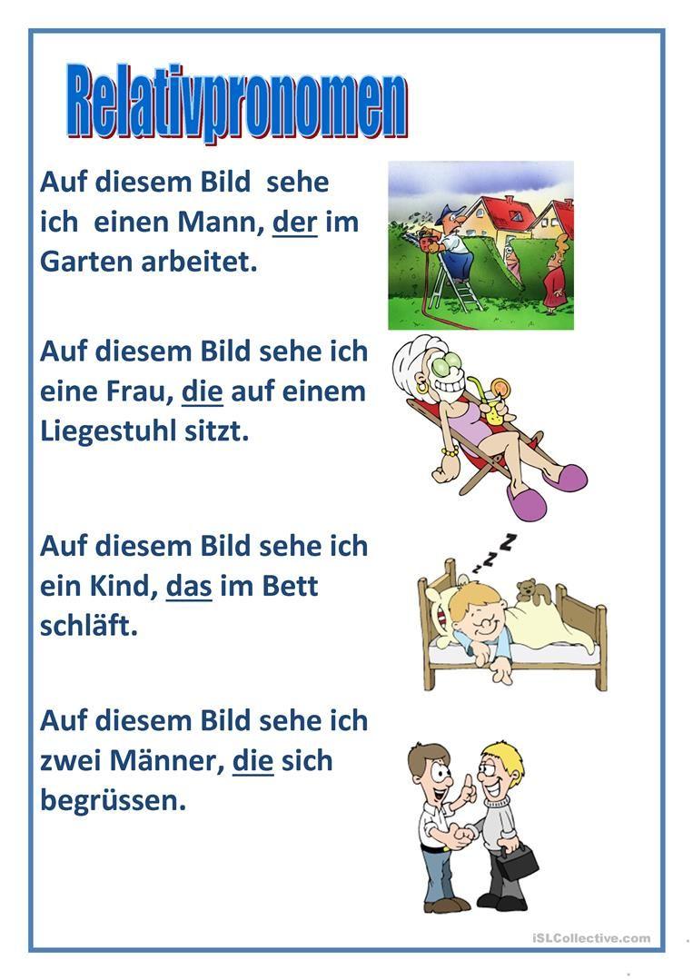 Relativpronomen | auf Deutsch, bitte | Pinterest | German, Deutsch ...