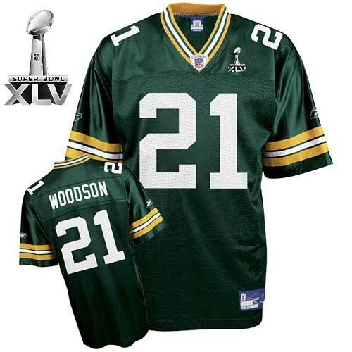 free shipping 14166 63aaf Charles Woodson Jersey, Embroidered Super Bowl XLV #21 Green ...