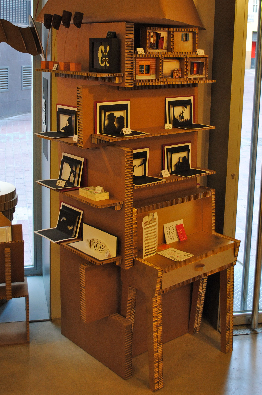 Biombo Expositor En Cart N Nido De Abeja Expositores Y  # Muebles Nido De Abeja