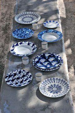 Vaisselle bleue