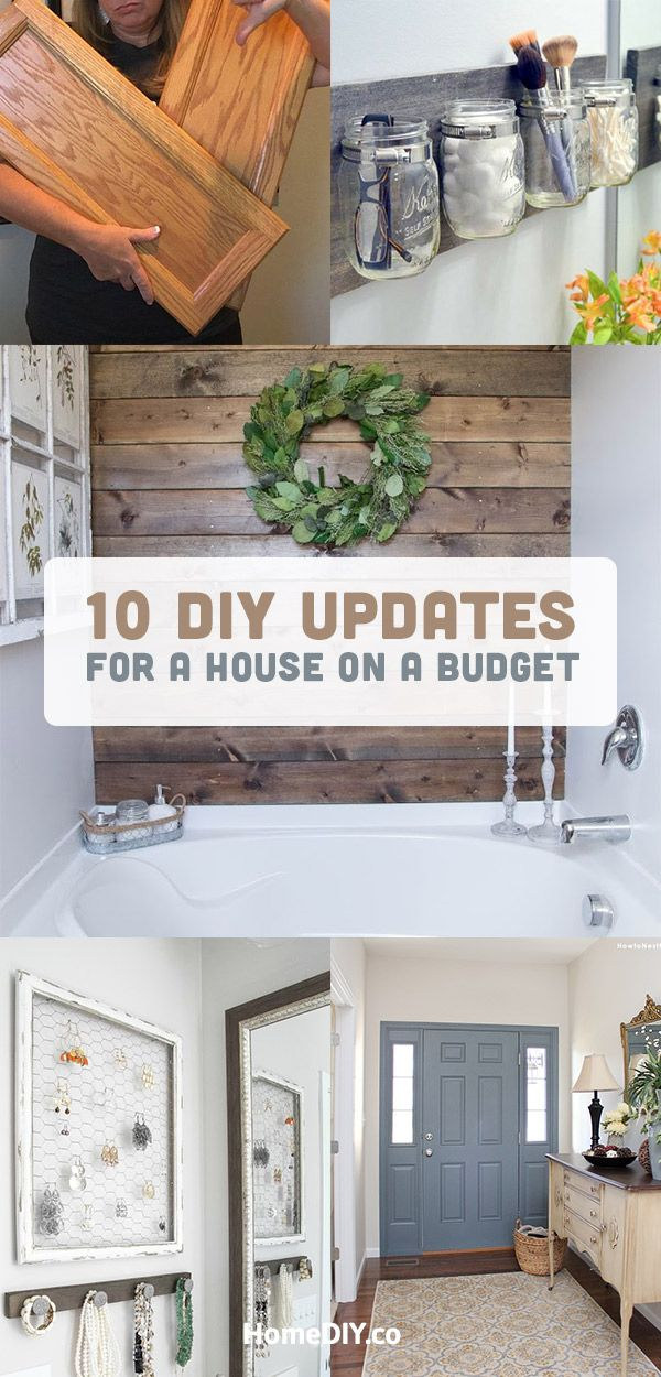 DIY Projects for the Home  How to Update House on a Budget is part of Home remodeling diy - You don't need to spend much money for home improvements if you get inspired by this collection of DIY projects for the home  Update house on a budget!