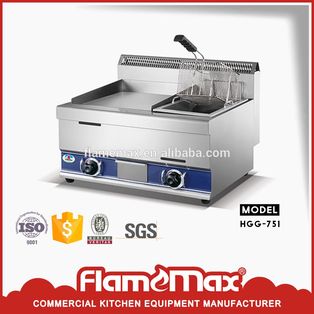 Factory Direct Hot Saling Commercial Gas Griddle With Gas Fryer ...