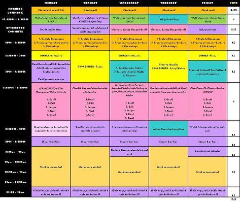 Weekly planning using Microsoft Excel (week 41 of the 52 Planners in