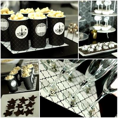 black and white oscar party make create do