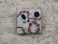 Enamel Glazed Copper Square Pin  (D74)