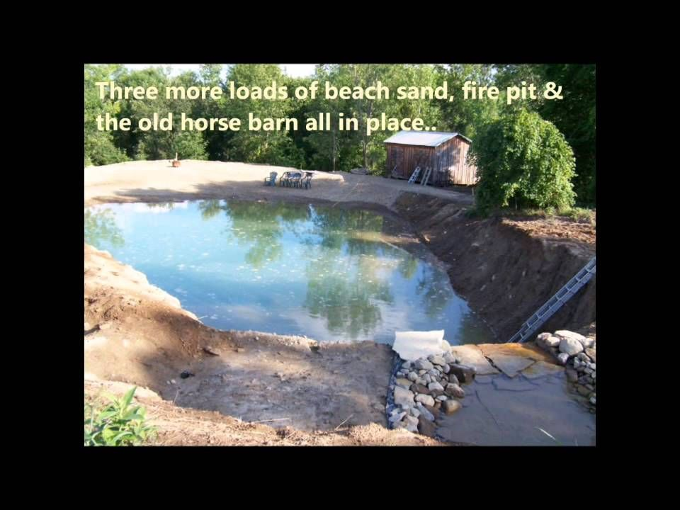 2 Building A Private Beach Natural Swimming Pool Pond Diy On Pool Bud Swimming Pond Natural Swimming Ponds Swimming Pool Pond