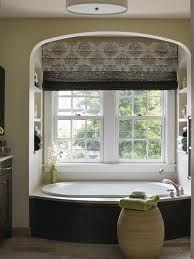 Large Window Over Tub Bathroom, Large Bathroom Window Treatment Ideas