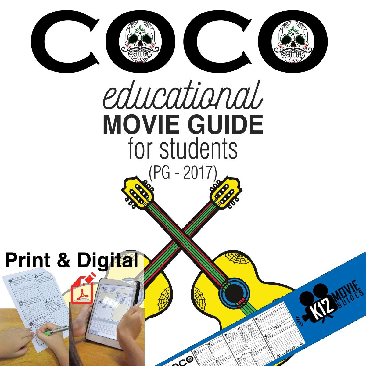 Coco Movie Guide Questions Worksheet Pg