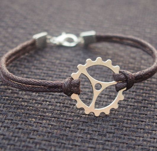 Wholesale Bracelets, Gearwheel Bracelet-Brown Leather ...