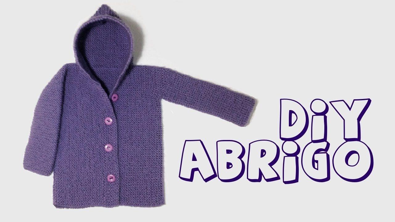 C mo tejer abrigo o chaqueta con capucha para beb paso a paso tejidos en maquina - Tejer chaqueta bebe 6 meses ...