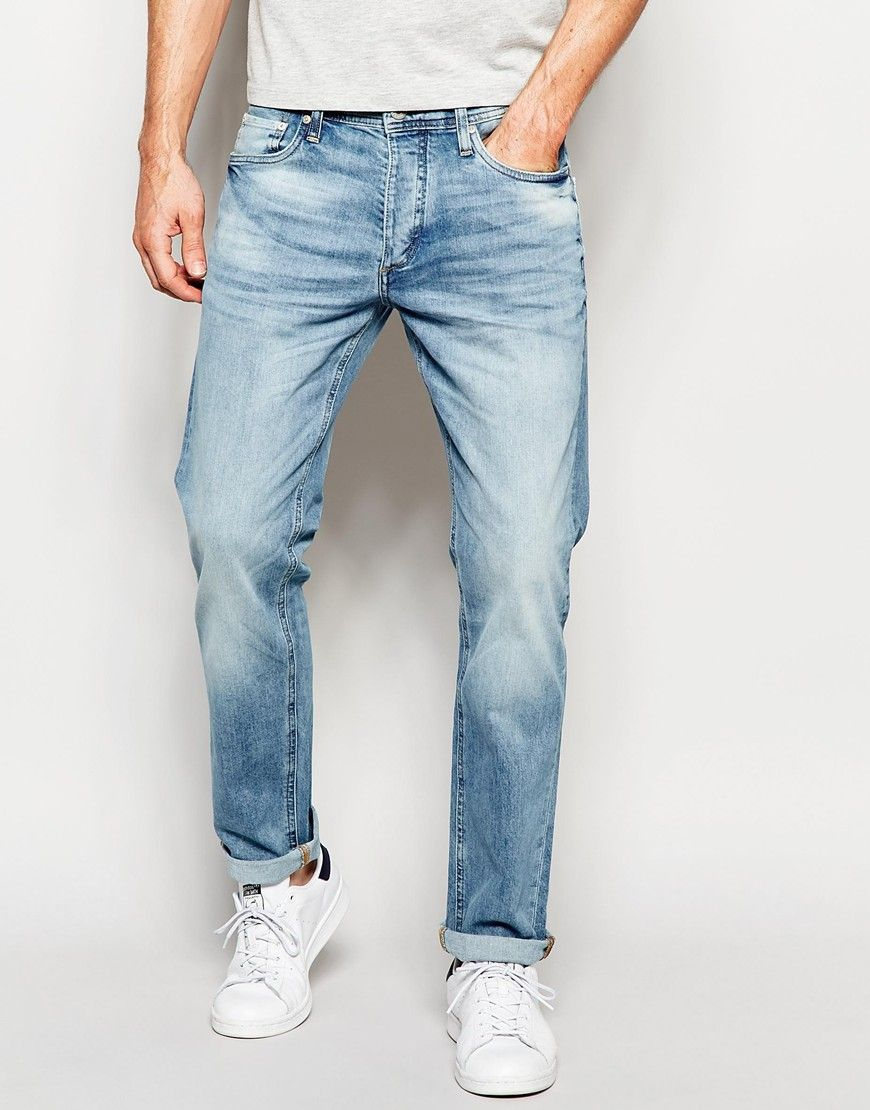 Image 1 of Jack & Jones Light Wash Jeans in Straight Fit