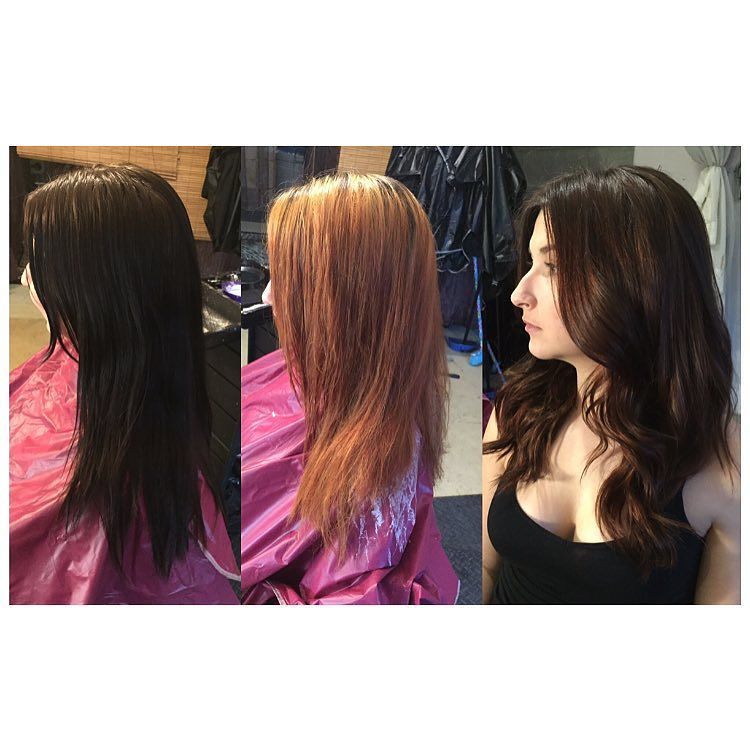 Colour Correction So My Client Comes In Today With Box Dyed Black
