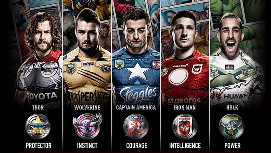 MARVEL SUPER HEROES MEET THE SUPER ATHLETES FROM THE