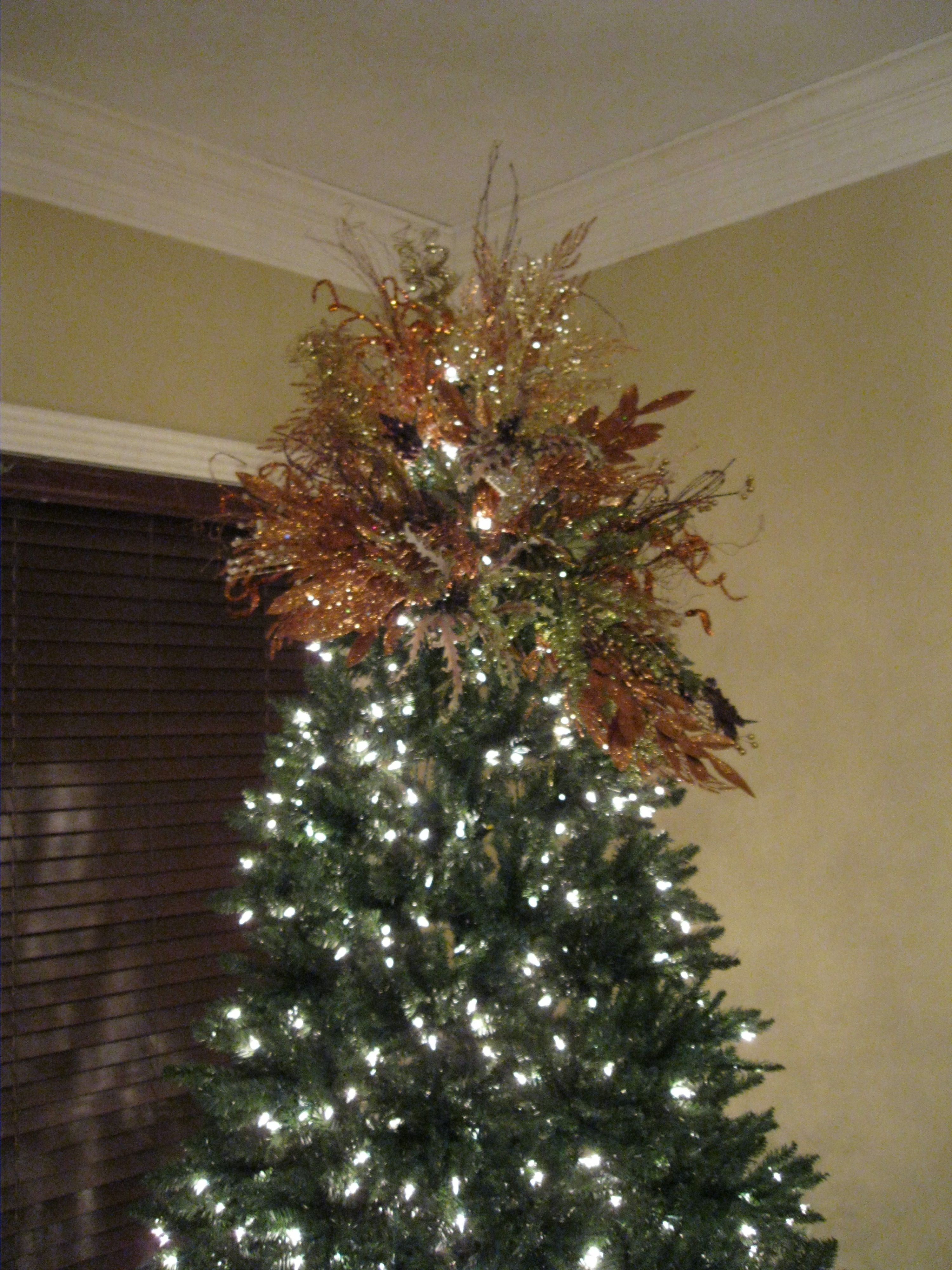 Gold Copper Christmas Tree Topper