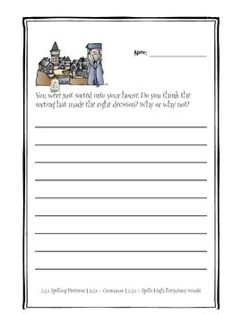 Harry Potter Themed Classroom Sorting Hat Quiz Opinion Writing Activities Harry Potter House Quiz Writing Activities