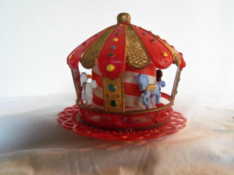 Vintage Wilton Carousel Merry Go Round Circus Cake Topper
