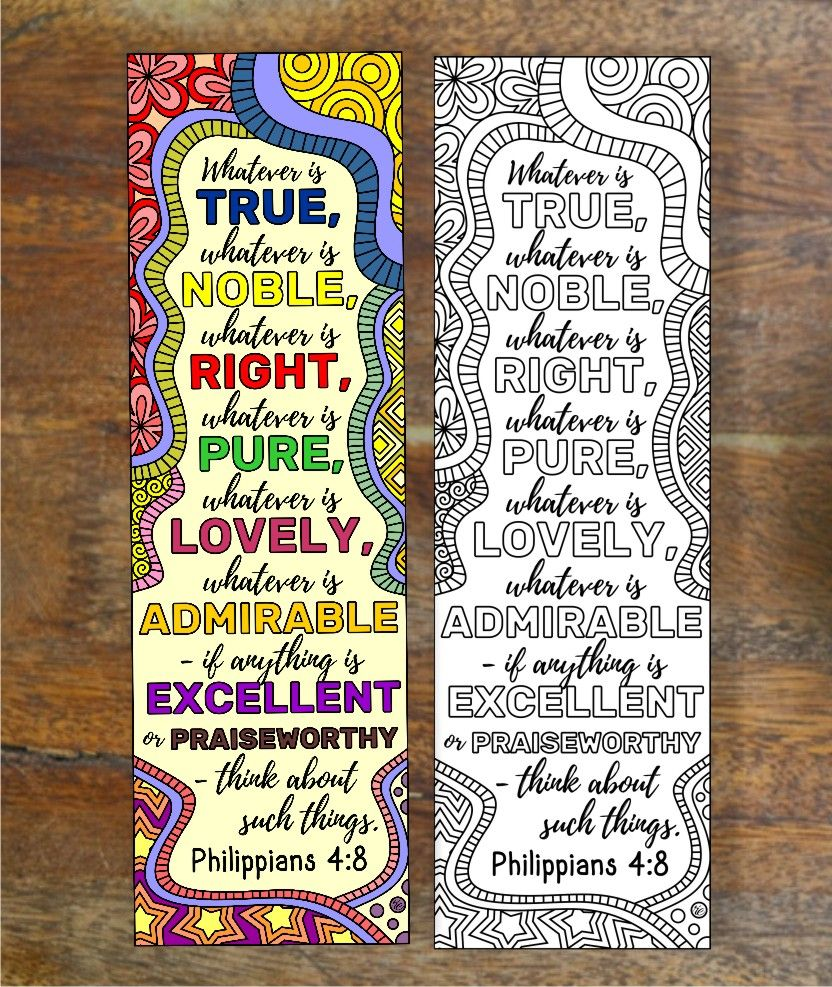 Set of 8 Bible Coloring Bookmarks Cute Christian Markers