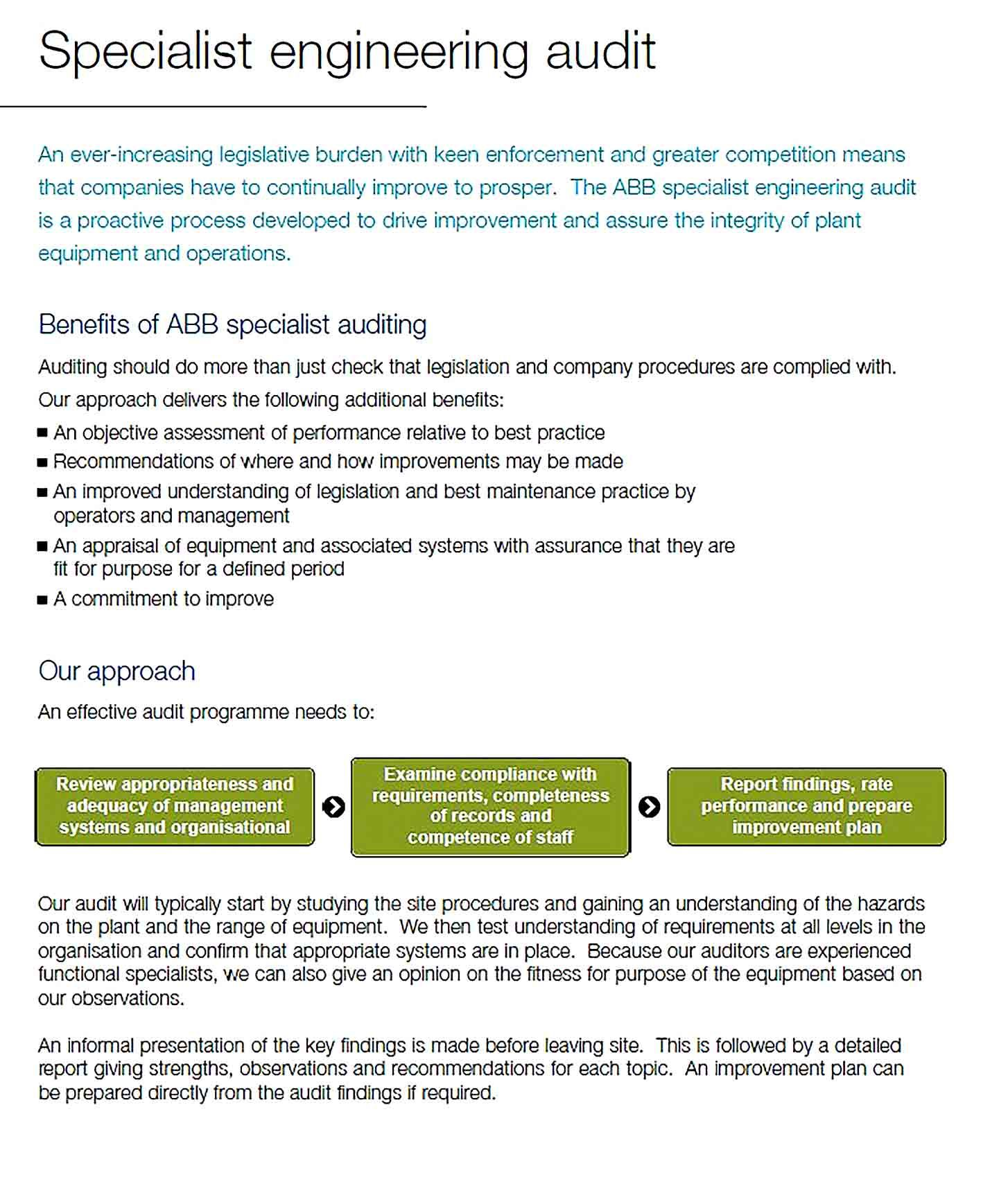Engineering Audit Report Template